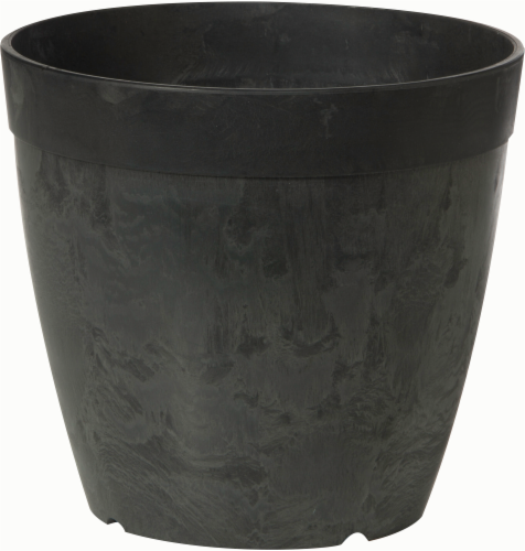 Novelty Dolce Round Planter - Black Perspective: front