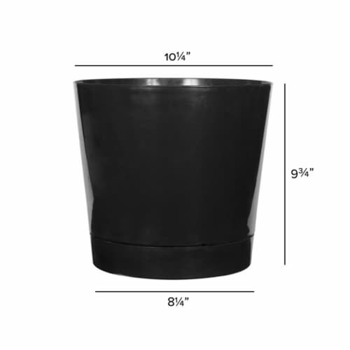 Novelty Majestic Planter - Black Perspective: front