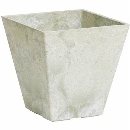 Novelty Artstone 8 x 7.81 in. Mint Resin & Stone Powder Ella Flower Pot Perspective: front