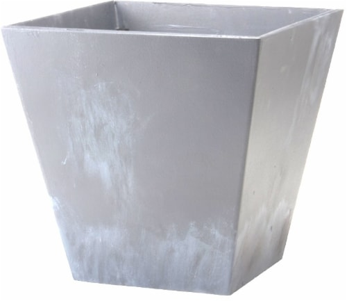 Novelty Square Ella Planter - Gray Perspective: front