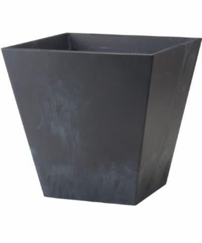 Novelty Square Ella Planter - Black Perspective: front