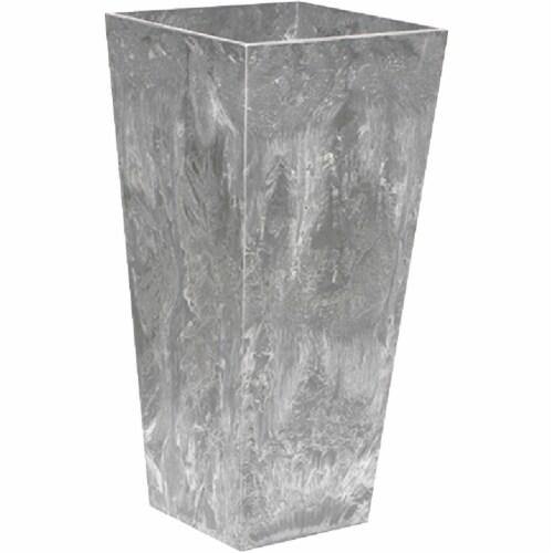 Novelty ArtStone Tall Ella Resin Planter - Grey Perspective: front