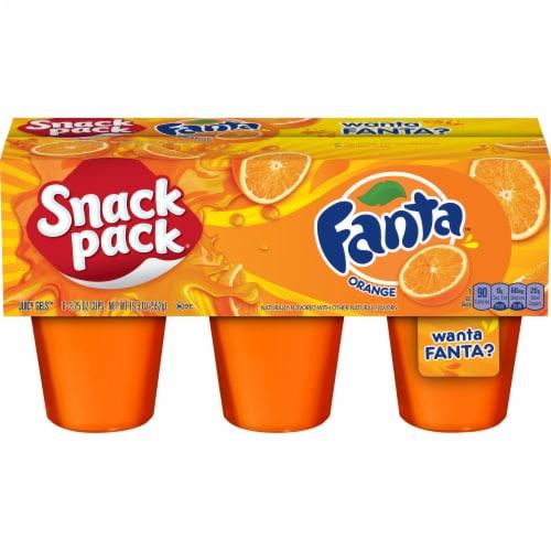 Snack Pack Fanta Orange Juicy Gels Cups Perspective: front