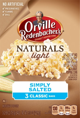 Orville Redenbacher's Gourmet Naturals Simply Salted Perspective: front