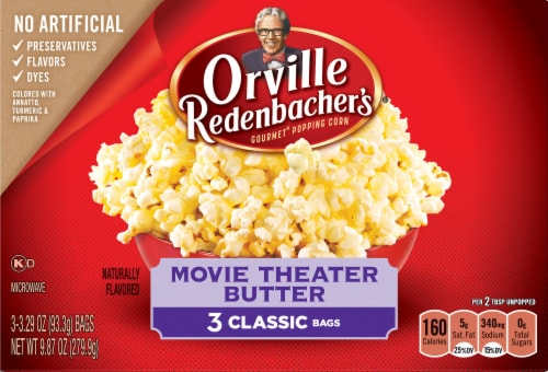 Orville Redenbacher's Movie Theater Butter Popcorn Bags Perspective: front