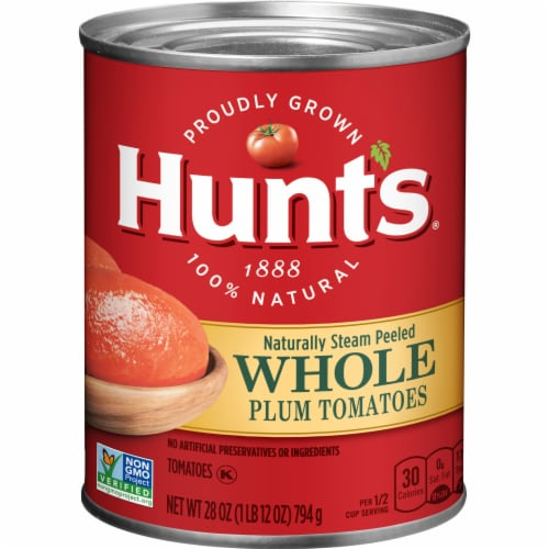 Hunt's Whole Peeled Plum Tomatoes Perspective: front