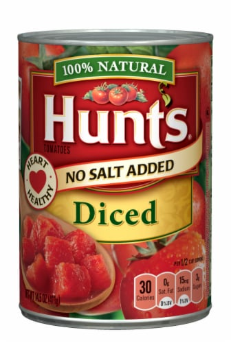 Hunt's No Salt Added Diced Tomatoes Perspective: front
