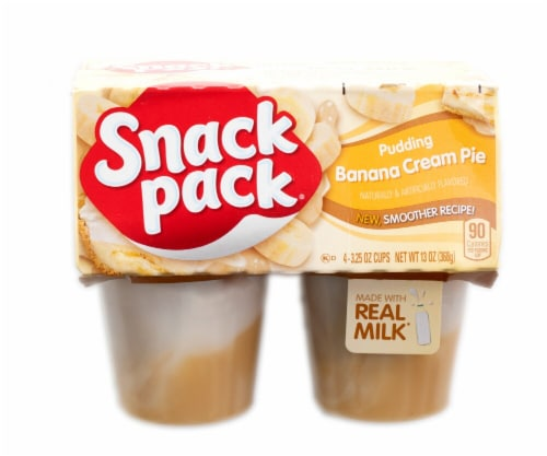 Snack Pack Banana Cream Pie Pudding Perspective: front