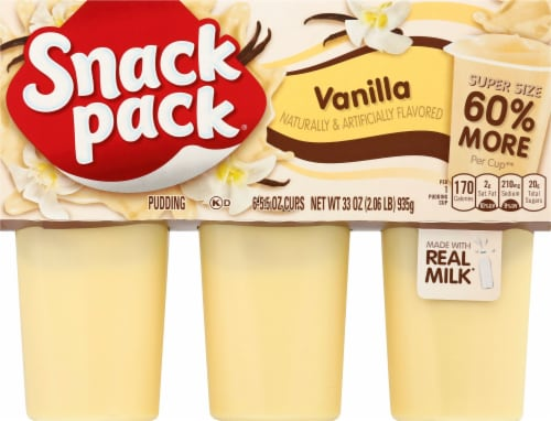 Snack Pack Super Creamy Vanilla Pudding Perspective: front