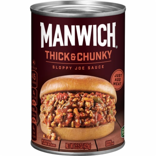 Manwich Thick & Chunky Sloppy Joe Sauce Perspective: front