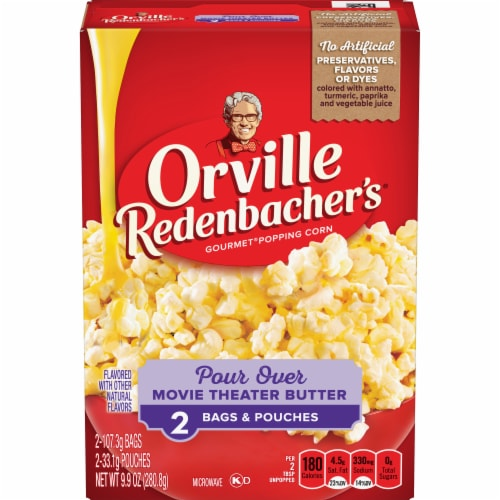 Orville Redenbacher's Pour Over Movie Theater Butter Popcorn Bags 2 Count Perspective: front