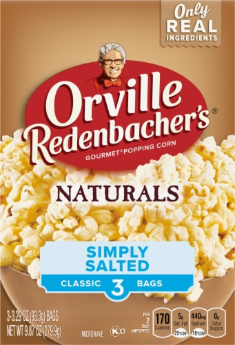 Orville Redenbacher's Naturals Simply Salted Popcorn Bags 3 Coiunt Perspective: front