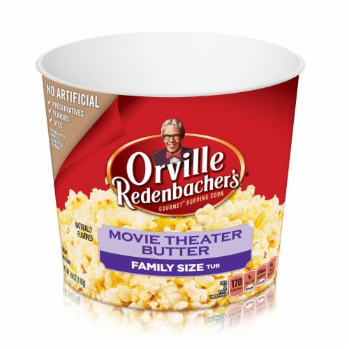 Orville Redenbacher's Movie Theater Butter Popcorn Tub Perspective: front