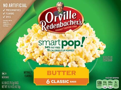 Orville Redenbacher's SmartPop! Butter Classic Bags 6 Count Perspective: front