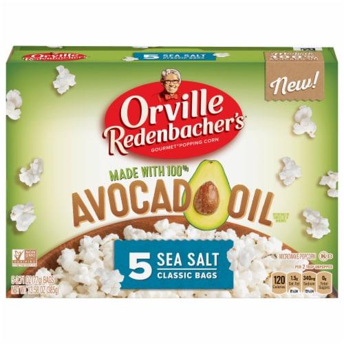 Orville Redenbacher's Avocado Oil Sea Salt Microwave Popcorn Perspective: front