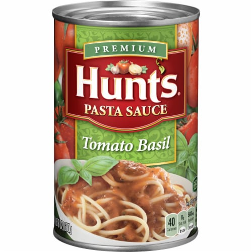 Hunt's Tomato Basil Pasta Sauce Perspective: front