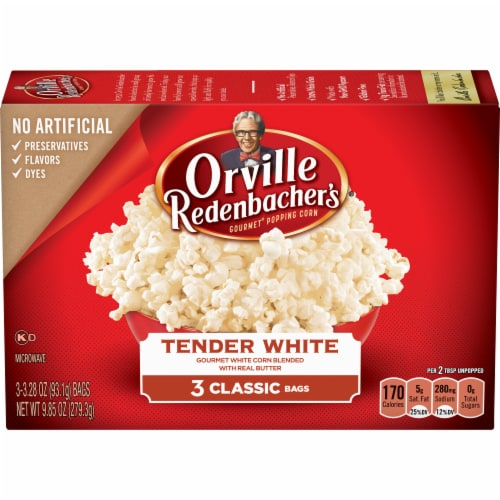 Orville Redenbacher's Tender White Popcorn Perspective: front