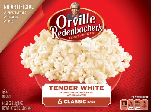 Orville Redenbacher's Tender White Popcorn Bags Perspective: front