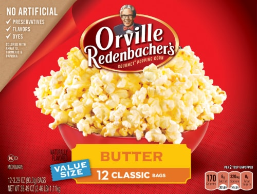Orville Redenbacher's Butter Popcorn Bags 12 Count Perspective: front