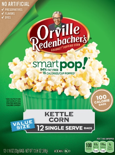 Orville Redenbacher's Smart Pop! Kettle Corn Popcorn Perspective: front