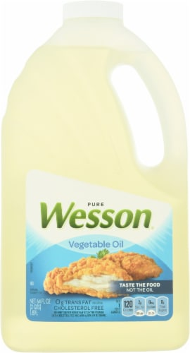 Wesson Pure Vegetable Oil Perspective: front
