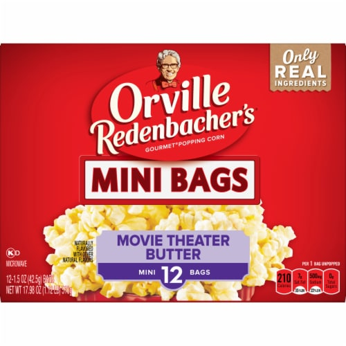 Orville Mini Movie Theater Butter Popcorn Perspective: front