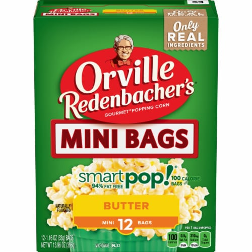 Orville Redenbacher's Mini Smart Pop Butter Popcorn Snack Bags Perspective: front