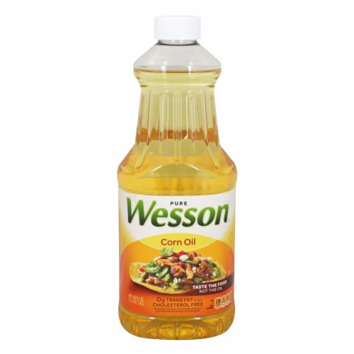 Wesson Pure Corn Oil Perspective: front