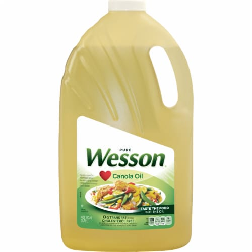 Wesson® Pure Canola Oil Perspective: front