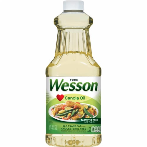 Wesson Pure Canola Oil Perspective: front