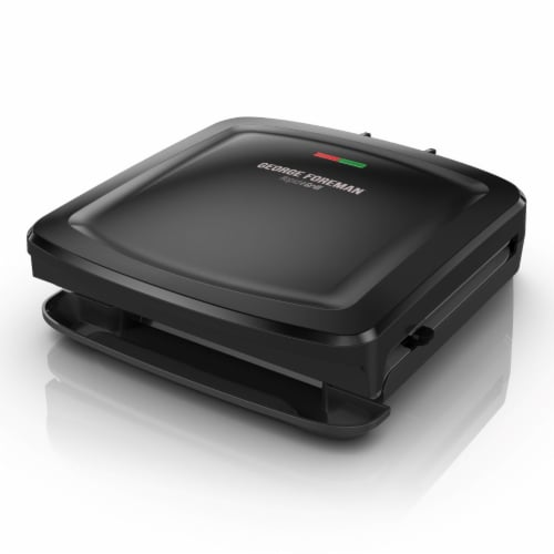 George Foreman 4-Serving Electric Indoor Grill - Black Perspective: front