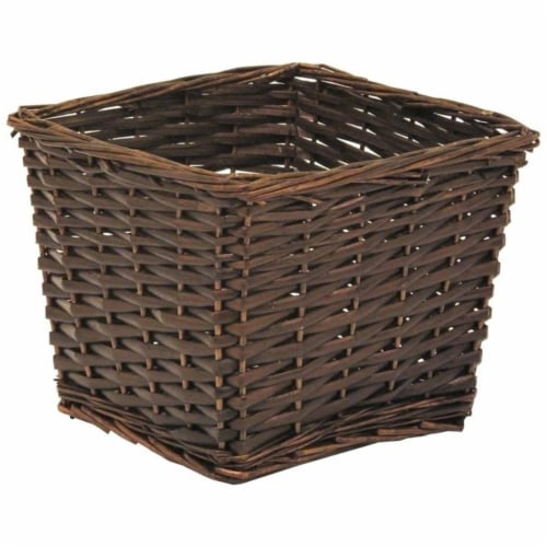 Redmon Small Willow Basket - Espresso Perspective: front