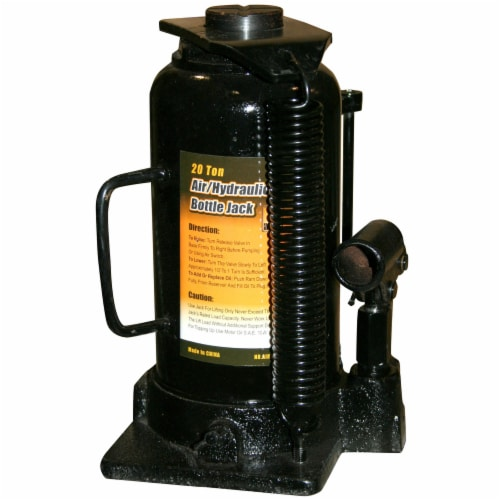 Black Bull 20 Ton Manual Air/Hydraulic Bottle Jack Perspective: front