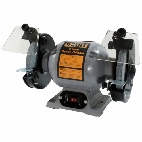 Black Bull 6 Inch Bench Grinder Perspective: front