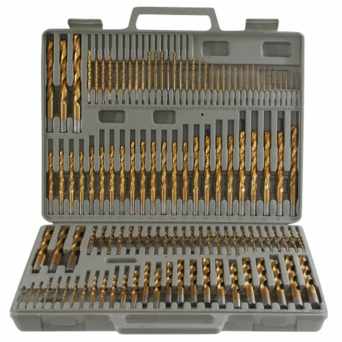 Pro-Series 115 Piece Titanium Drill Bit Set Perspective: front