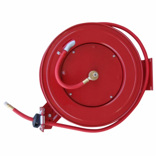 Black Bull 50 Foot Retractable Air Hose Reel with Auto Rewind Perspective: front