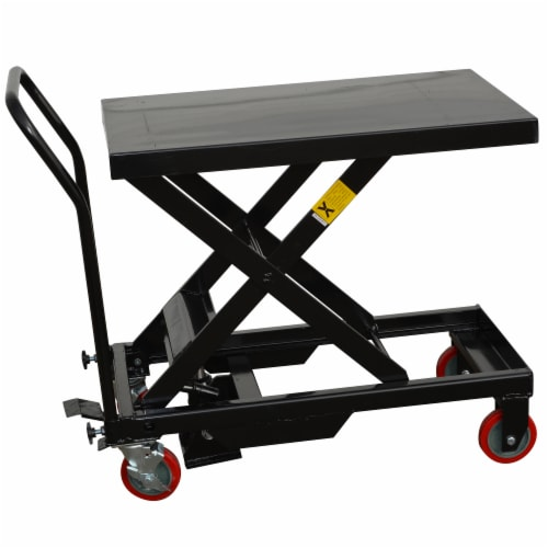 Black Bull Hydraulic Table Cart Perspective: front