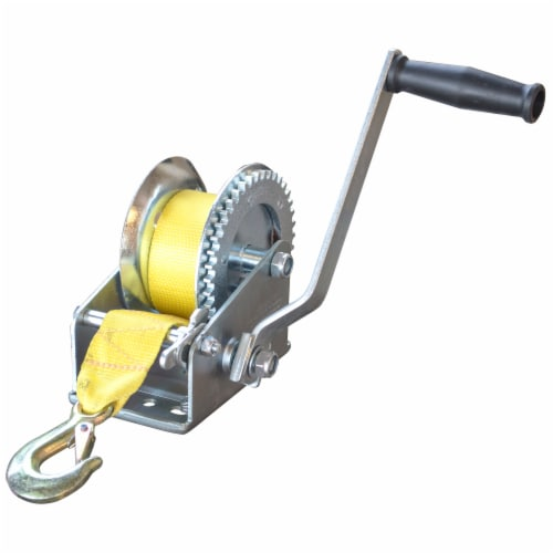 Sportsman Series 2500 Lbs Hand Winch with Hook Perspective: front