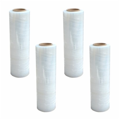 Pro-Series 4 Piece Stretch Wrap Roll – 18 in. x 1500 ft. Perspective: front