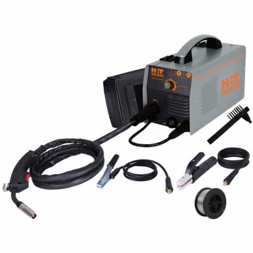 HIT 140 Amp Flux-Cored 120V MIG Welder Kit Perspective: front