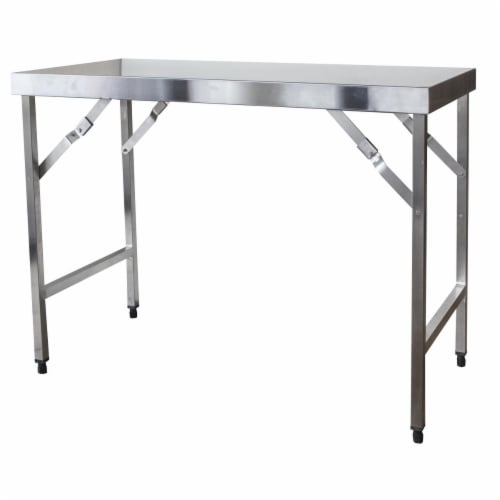 Sportsman Series Stainless Steel Portable Folding Work Table Perspective: front