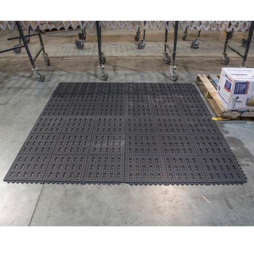 Amerihome 4 Piece Interlocking Rubber Mats 3 x 3 Perspective: front
