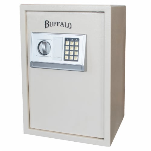 Buffalo Outdoor Electronic Floor Safe - Beige Perspective: front