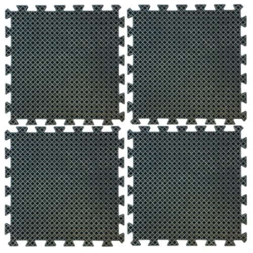 Buffalo Tools 4 Piece Interlocking Rubber Mat Set Perspective: front