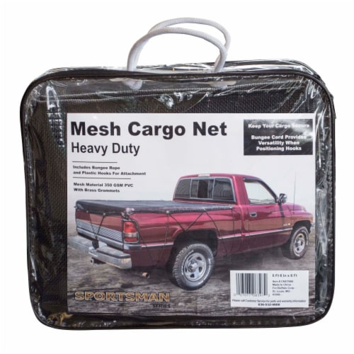 Sportsman Series Heavy Duty Mesh Cargo Net 6 ft. 6 in. x 6 ft. Perspective: front