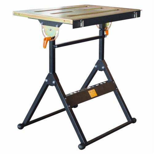 HIT Adjustable Flameproof Steel Welding Table Perspective: front