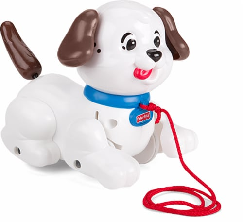 Fisher-Price® Brilliant Basics Lil' Snoopy Pull Toy - Brown/White Perspective: front
