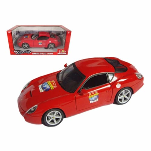 Hot wheels l2960r Ferrari 575 GTZ Red 60 Anniversary Edition 1-18 Diecast Model Car Perspective: front