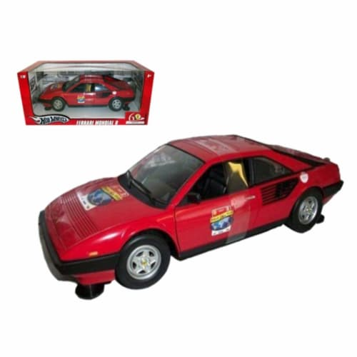 Hot wheels L7340r Ferrari Mondial 8 60th Anniversary Red 1-18 Diecast Model Car Perspective: front