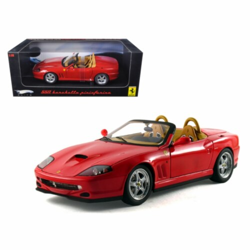 Hot wheels N2054 Ferrari 550 Barchetta Pininfarina Red Elite Edition 1-18 Diecast Model Car Perspective: front